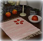 Úžitkový textil - červené kvety - 11278338_