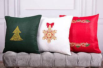 Úžitkový textil - Vyšívaná obliečka na vankúš 2 - 11274852_