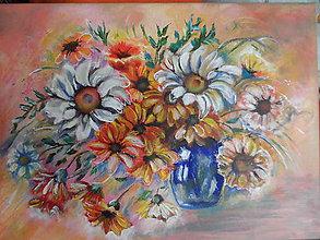 Obrazy - Kvety na stole - 11276831_