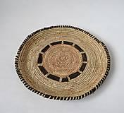 Dekorácie - Doska, palmové listy a prírodná koža - 11275698_