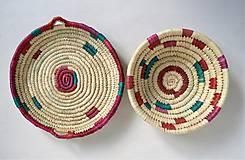 Košíky - Pletený palmový kôšík - 11276334_