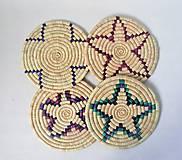 Pomôcky - Africký závesný kruh na stenu / podložka  (cca. 30 cm - Modrá) - 11276412_