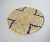 Pomôcky - Africký závesný kruh na stenu / podložka  (cca. 30 cm - Modrá) - 11276418_