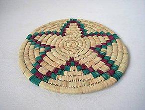 Pomôcky - Africký závesný kruh na stenu / podložka  (cca. 30 cm - Zelená) - 11276413_