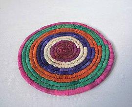 Pomôcky - Africký závesný kruh na stenu / podložka  (cca. 26 cm - Červená) - 11276848_