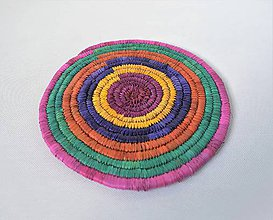 Pomôcky - Africký závesný kruh na stenu / podložka  (cca. 26 cm - Bordová) - 11276857_