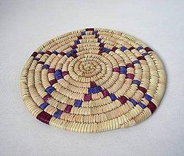 Pomôcky - Africký závesný kruh na stenu / podložka  (cca. 30 cm - Modrá) - 11276884_