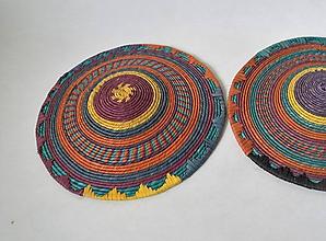 Dekorácie - Sudan Africký závesný kruh na stenu (cca. 30 cm - Žltá) - 11277032_