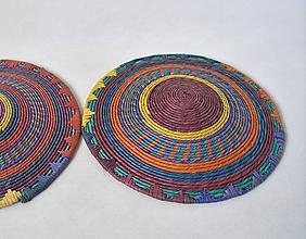 Dekorácie - Sudan Africký závesný kruh na stenu (cca. 30 cm - Žltá) - 11277059_