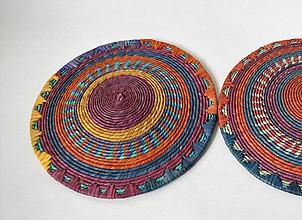 Dekorácie - Sudan Africký závesný kruh na stenu (cca. 30 cm - Bordová) - 11277084_