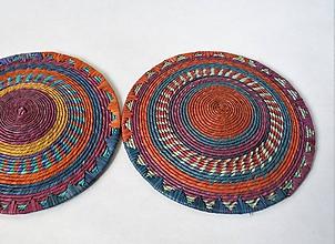 Dekorácie - Sudan Africký závesný kruh na stenu (cca. 30 cm - Hnedá) - 11277094_