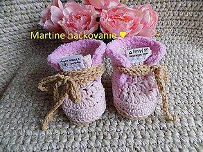 Topánočky - papučky pre bábätko ♥ - 11275774_