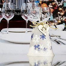 Kytice pre nevestu - Vianočný sklenený zvonček - 11275552_