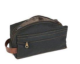 Taštičky - Zelená kozmetička. Cestovná kozmetická taška. - 11276194_