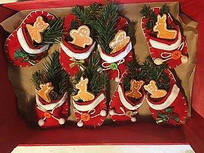 Drobnosti - Papučky vianočné - 11278804_