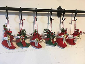 Drobnosti - Vianočné čižmičky - 11278831_