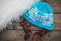 Detské čiapky - Tyrkysová čiapka - 11278876_