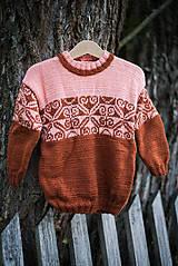 Detské oblečenie - Škoricový pulóver - 11278958_