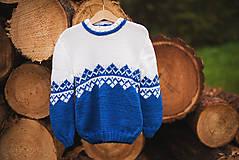 Detské oblečenie - Modrý pulóver - 11278968_