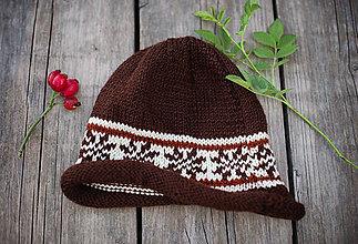 Detské čiapky - Ručne štrikovaná čiapka - 11278845_