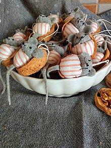 Dekorácie - Orechové myšky - 11276749_