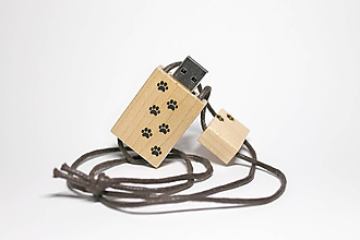 Drobnosti - DREVENÉ USB_LABKY - 11276445_