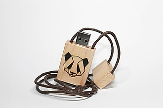Drobnosti - DREVENÉ USB_PANDA - 11277973_