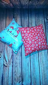Úžitkový textil - Vianočný vankuš - 11279076_