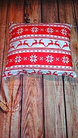 Úžitkový textil - Vianočné vankúš - 11279078_