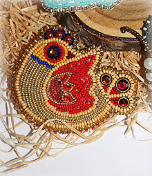 Odznaky/Brošne - Brošňa - Folklórny Vtáčik - 11274816_