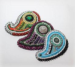Odznaky/Brošne - Brošňa - Elegant Purple - 11276673_