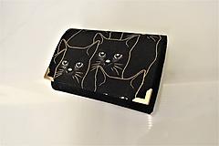 Peňaženky - Black cat - i na karty 13 cm - 11275720_