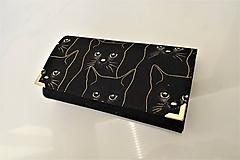 Peňaženky - Black cat - 17 cm i na karty - 11275734_