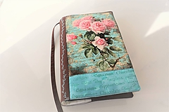 Papiernictvo - Vintage ruže - obal na knihu - 11276128_