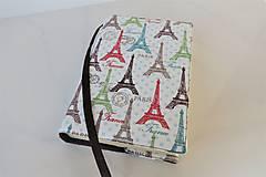 Papiernictvo - Barevné Eiffelovky  - obal na knihu - 11276312_