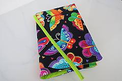 Papiernictvo - Barevní motýlci  - obal na knihu - 11276329_