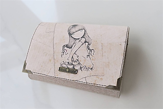 Peňaženky - Děvčátko - i na karty 13 cm - 11275605_