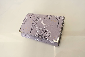 Peňaženky - Malý bílý králíček - i na karty 13 cm - 11275635_