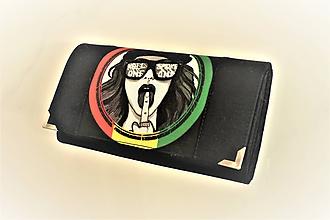 Peňaženky - Rebelka - rasta  - 17cm na spoustu karet - peněženka 17 cm, na spoustu karet - 11276978_