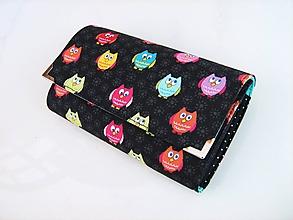 Peňaženky - Veselé sovičky - 17 cm i na karty - 11277077_