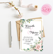 Papiernictvo - svadobné oznámenie 170 - 11276481_