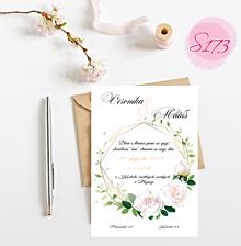 Papiernictvo - svadobné oznámenie 173 - 11276643_