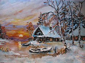Obrazy - Pri zimnom jazierku - 11277478_