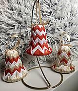 Dekorácie - Vianočné zvončeky na stromček - 11275678_