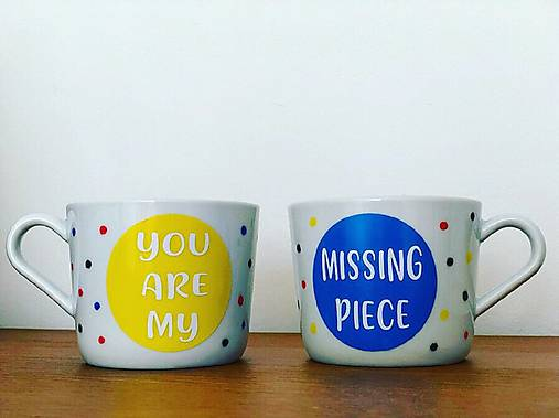 You are my missing piece🧩Set šálok pre pár ♥️