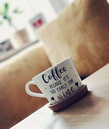 Nádoby - Coffee mug - Before work ♥️ - 11278974_