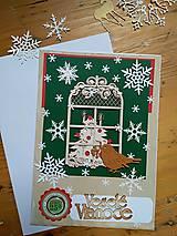 Papiernictvo - Pohľadnica okno s vtacikom - 11275072_