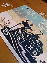 Papiernictvo - Pohľadnica zimná krajina - 11275078_