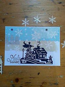 Papiernictvo - Pohľadnica zimná krajina - 11275077_