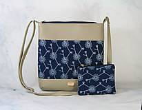 Kabelky - kabelka Dara XL set modrotlačová béžová - 11275049_